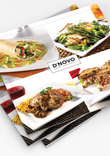 Restaurant Collateral design by Hampton Creative
