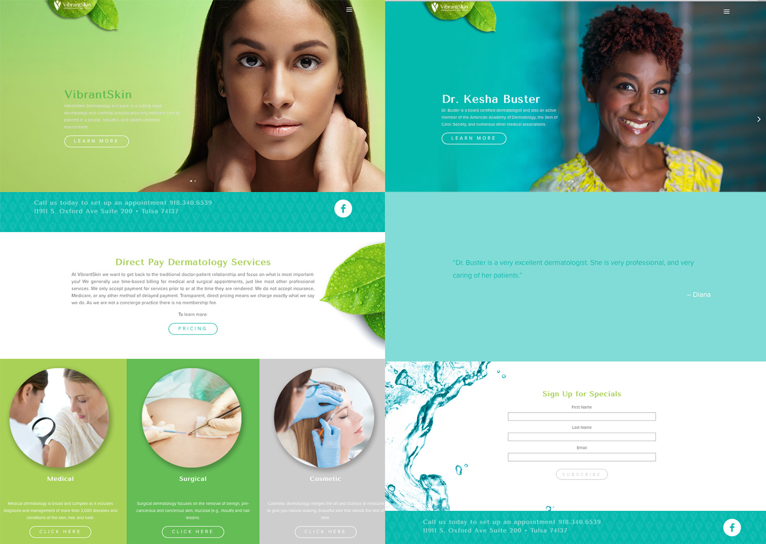 Vibrant Skin Web Design & Development